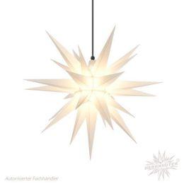 Original Herrnhuter Stern A7 aus Kunststoff für die Außen- und Innenverwendung, weiß